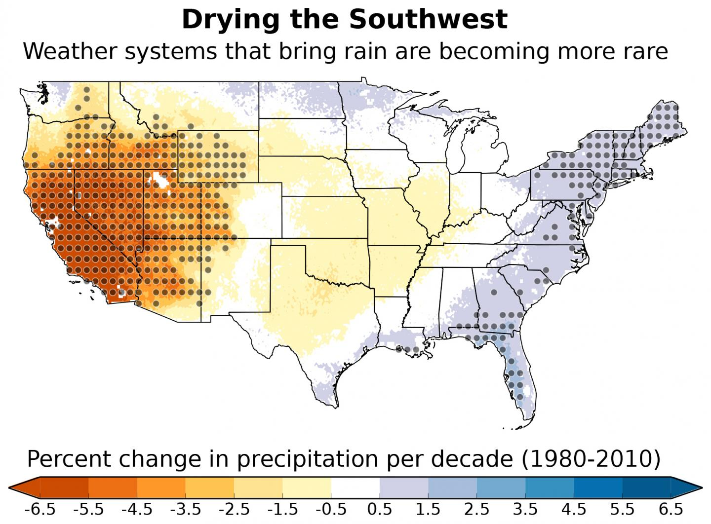 NCAR Claims US Southwest Sliding Into A Drier Climate And Its - Us weather climate map