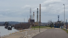 Tanner Creek Power Station in Lawrenceburg, IN - closed in 2015 by new EPA regulations. Photo by A. Watts