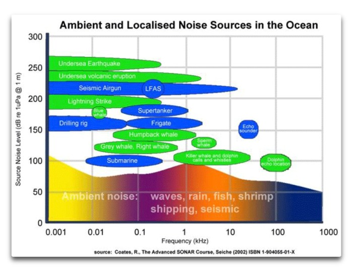 ambient and localized noise ocean