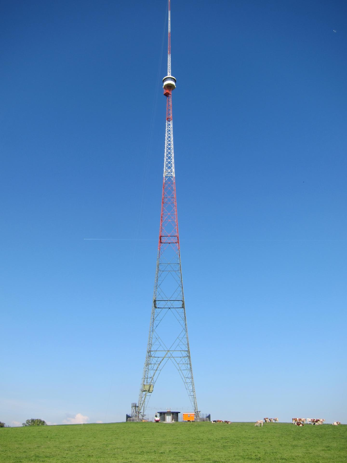 For the model simulations, data from various measuring stations in Switzerland were integrated. Eg. on the former radio transmission tower at Beromünster (canton of Lucerne). CREDIT Empa
