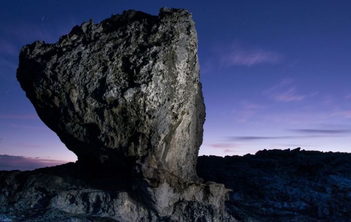 Hansen's Flying Boulder on the island of Eluethra. Image from Washington Post