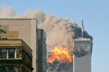 United Airlines Flight 175 crashes into the south tower of the World Trade Center complex in New York City during the September 11 attacks, author TheMachineStops (Robert J. Fisch), source Wikimedia