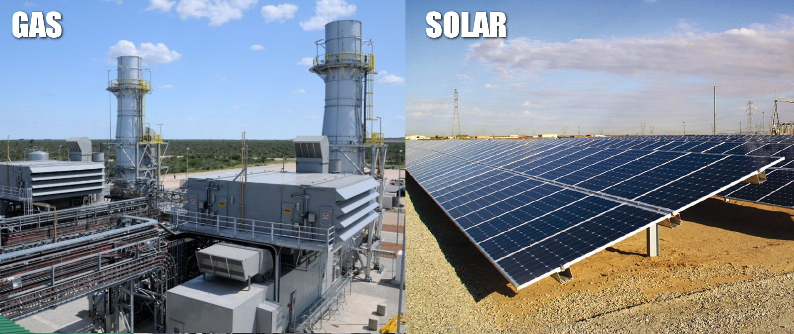 A Solar Power Plant vs  A Natural Gas Power Plant: Capital Cost
