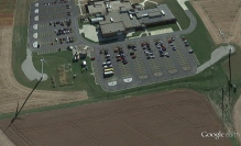 Two wind turbines on the Lake Land College Campus in Mattoon, IL  Image: Google Earth