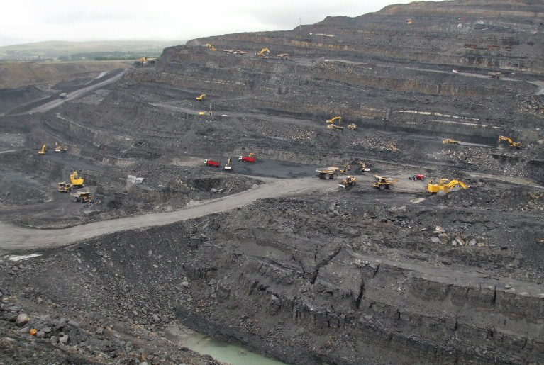 The FFOS-Y-FRAN Open Cast Coal Mine, Due East of Merthyr Tydfil, in Wales (UK). Author Andy Forster, Creative Commons, Source WSR