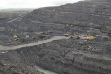 The FFOS-Y-FRAN Open Cast Coal Mine, Due East of Merthyr Tydfil, in Wales (UK). Author Andy Forster