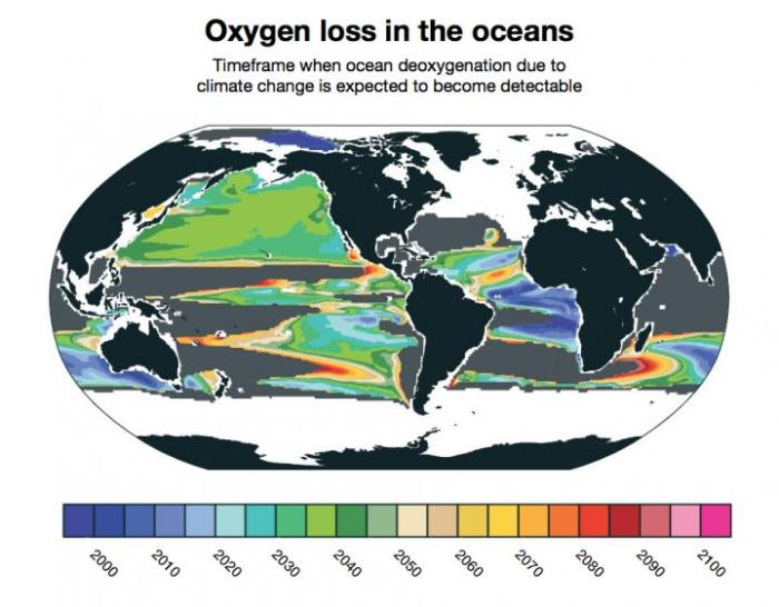 Modeling Claim: Widespread loss of ocean oxygen to become