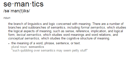 Dissertation semantics in a organization