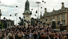 University of Hull graduates still get to throw their hats in the air.