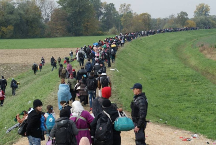 Undocumented migrants pouring into Europe.