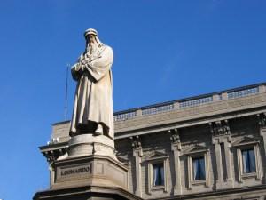 Statue of Leonardo da Vinci: Milan Image via Wikipedia