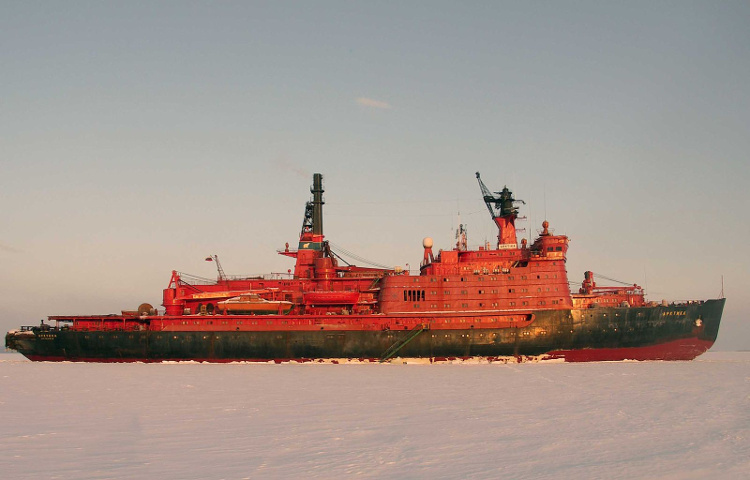 "e6576bd05f1 Russian nuclear icebreaker ""Arktika"". By Abarinov (Own work) [Public  domain], via Wikimedia Commons"