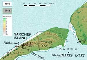 Climate change threatened\' Shishmaref town on Sarichef island ...