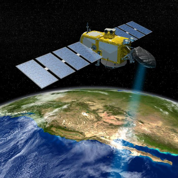 The Jason series of US/European satellites can measure the height of the ocean surface. CREDIT  NASA/JPL-Caltech