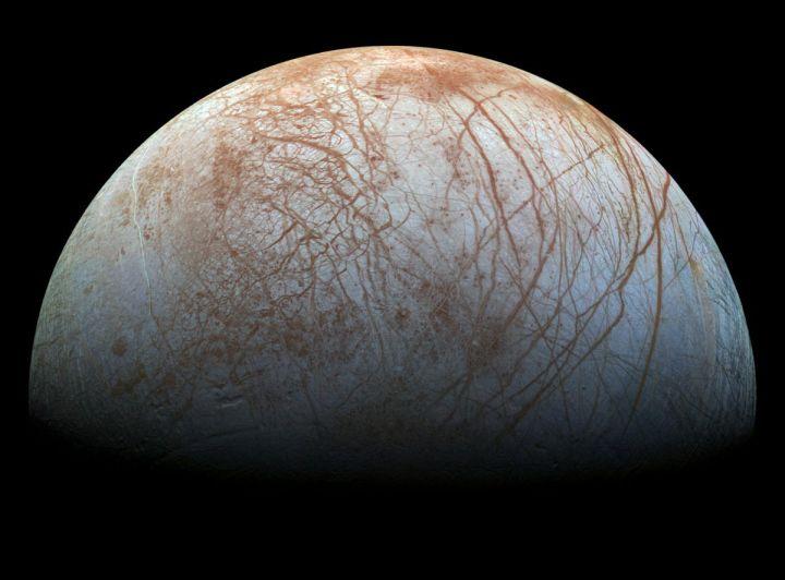 Jupiter's moon Europa, as seen by NASA's Galileo spacecraft. Credit: NASA/JPL-Caltech/SETI Institute