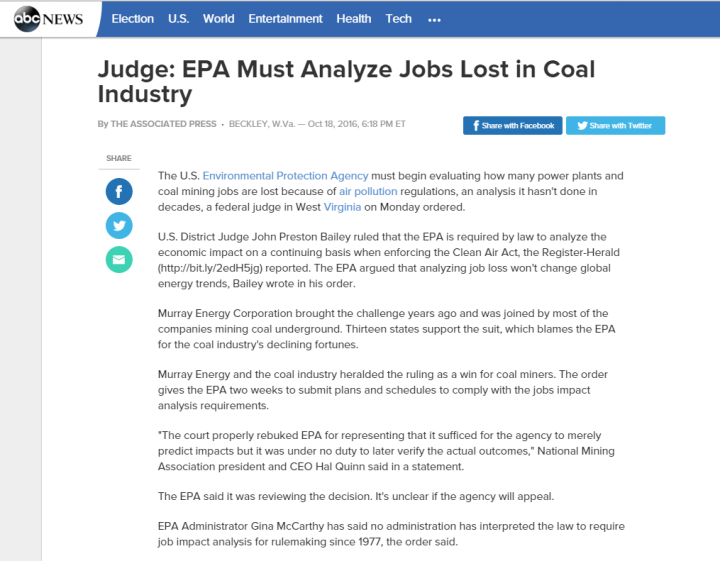 a review of the economics of the clean air act And ignoring or underestimating the costs and economic impacts and particular attention was paid to the clean air act epa regulations: too much, too little.