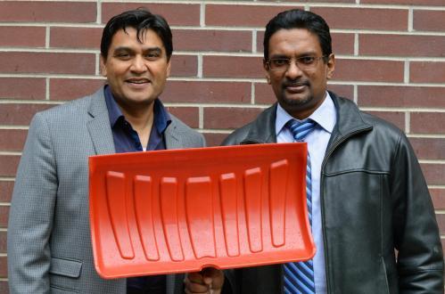 This image shows UBC's Rehan Sadiq (left) and Kasun Hewage. CREDIT UBC