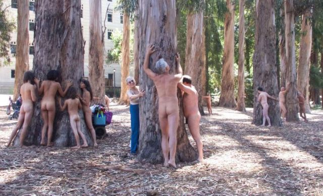 A a group of people exhibiting Ecosexuals