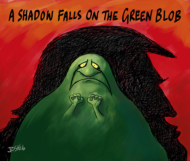 Image result for Green blob Josh cartoon GWPF