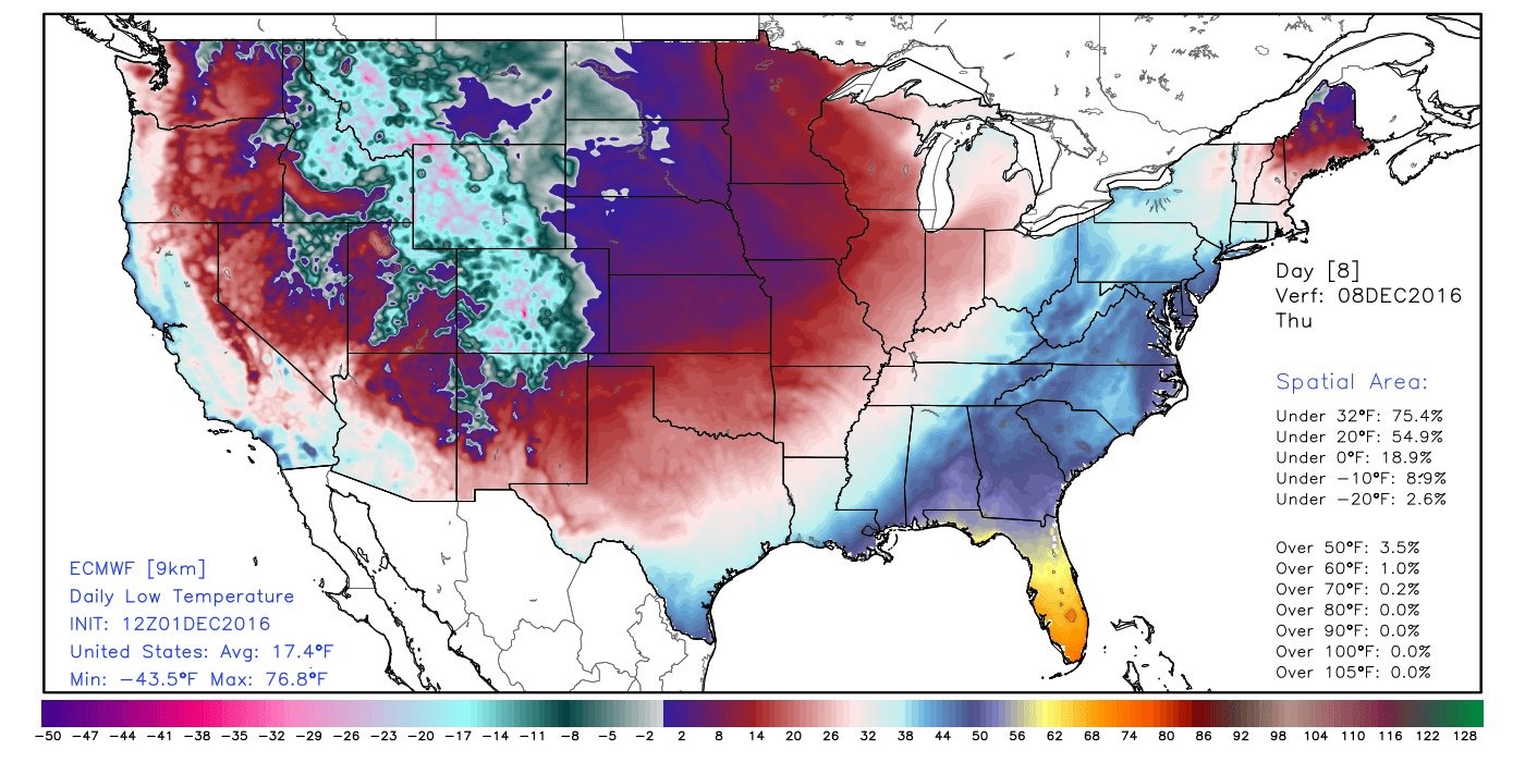 NOAA forecasts major December cold blast for nearly all the USA