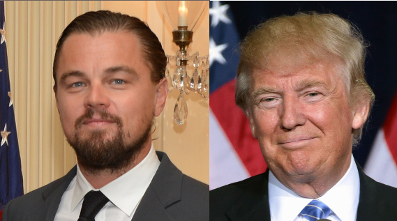 Leonardo DiCaprio and Donald Trump