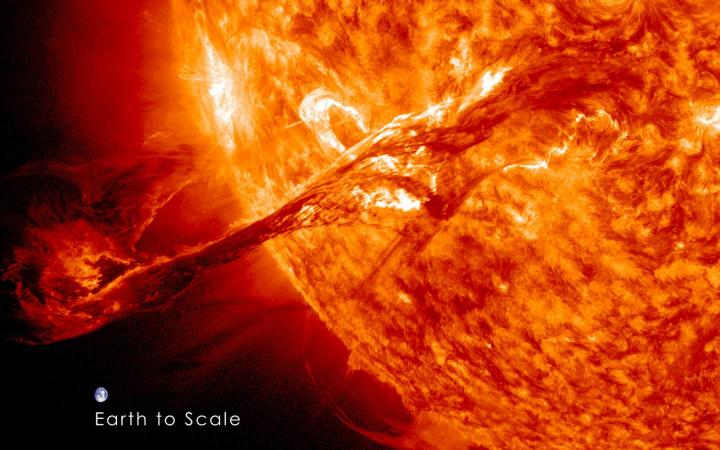 Coronal mass ejections from the sun heat Earth's upper atmosphere, then cool it dramatically, according to a new University of Colorado Boulder study. CREDIT NASA