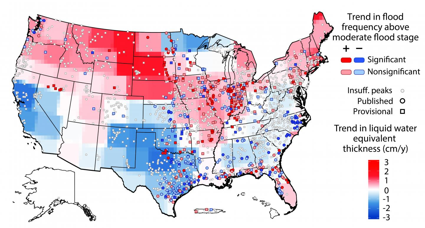 US Flood Risk Is Basically A Wash Thanks To Changing Weather - Map of weather patterns in the us