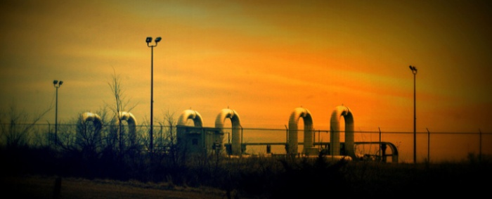 Oil Pipeline Pumping Station in rural Nebraska