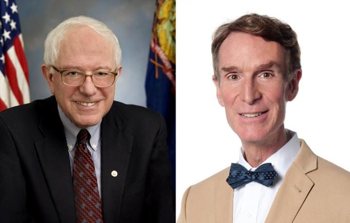 Bernie Sanders and Bill Nye