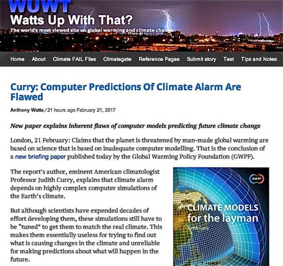 More on currys climate model study saying they are not useful as in the executive summary of this study dr curry delivers the bottom line on the unsuitability of climate models for use in addressing future global climate publicscrutiny Image collections