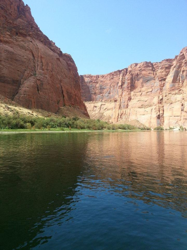 The US Bureau of Reclamation estimates annual natural upper Colorado River flow based on data recorded from streamgages at Lees Ferry. At that location, Colorado River streamflow reflects water that has drained from the upper basin, which includes Colorado, Wyoming, Utah and New Mexico. CREDIT U.S. Geological Survey