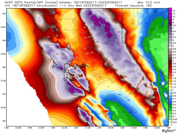 Storm: 10 trillion gallons over next 7 days for CA