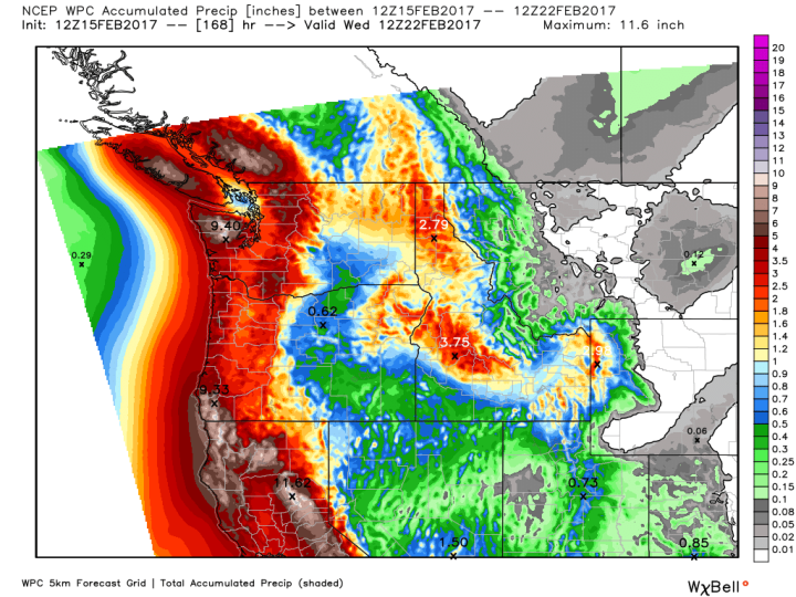 Map courtesy of WeatherBell