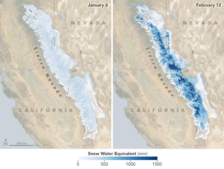 Abundant Snowpack Blankets the Sierra Nevada
