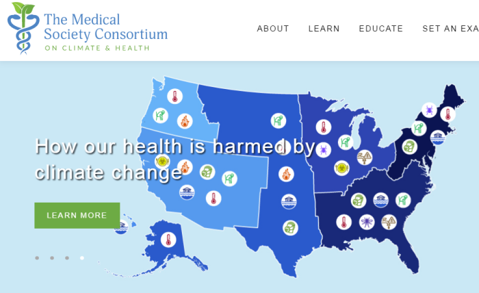 Watch out for the 'Medical Society Consortium on Climate and