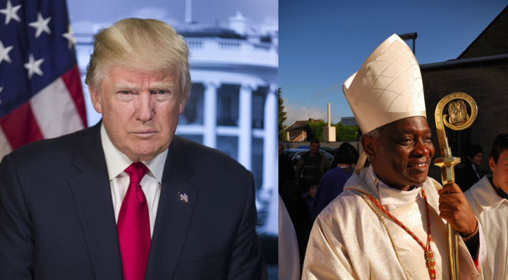 President Trump (White House Portrait). Cardinal Peter Turkson.