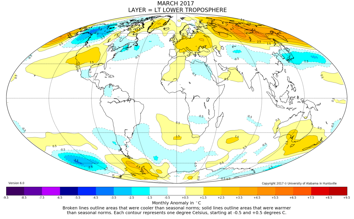 Global Temperature Report: March 2017 | Watts Up With That?