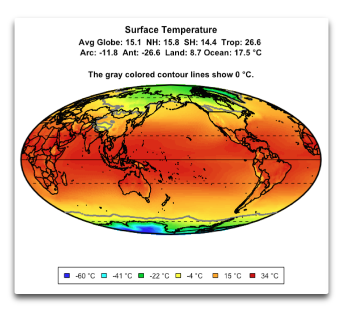 CERES surface temperature