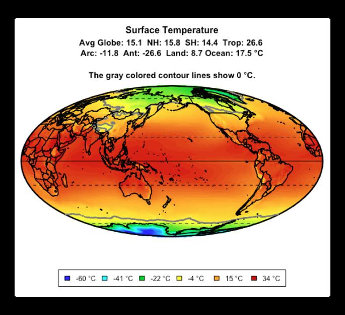 CERES surface temperature