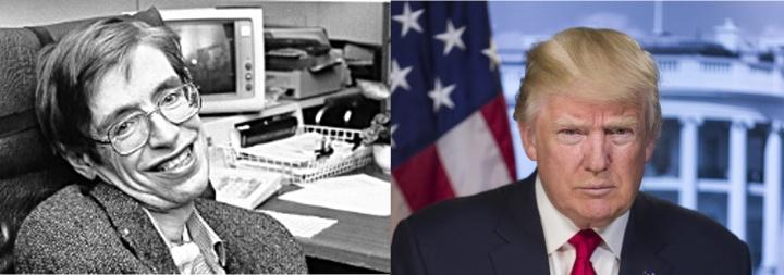 President Trump and Stephen Hawking