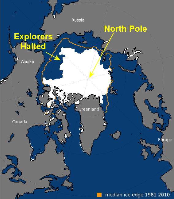 Arctic Climate Explorers give up sailing to the \'melting ...