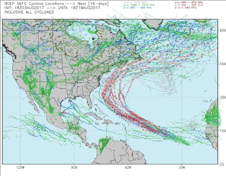 Meanwhile At NCEP The GFS Model Shows A Clear Track Heading Northwest Towards USA Coastline Near Georgia And South Carolina