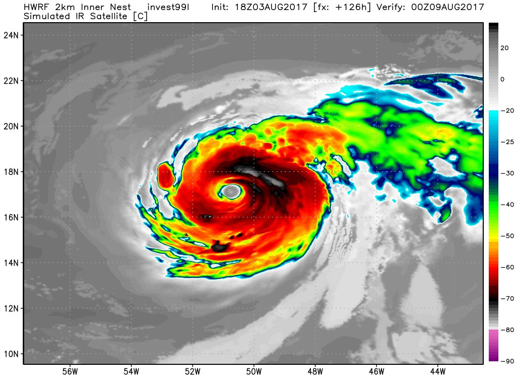 Both Mesoscale Hurricane Models HMON And HWRF Develop Wave Off Africa Invest 99L Into A Powerful In 5 Days Open Atlantic
