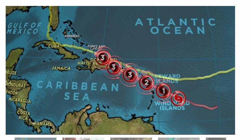 Hurricane Maria is following Irma's path