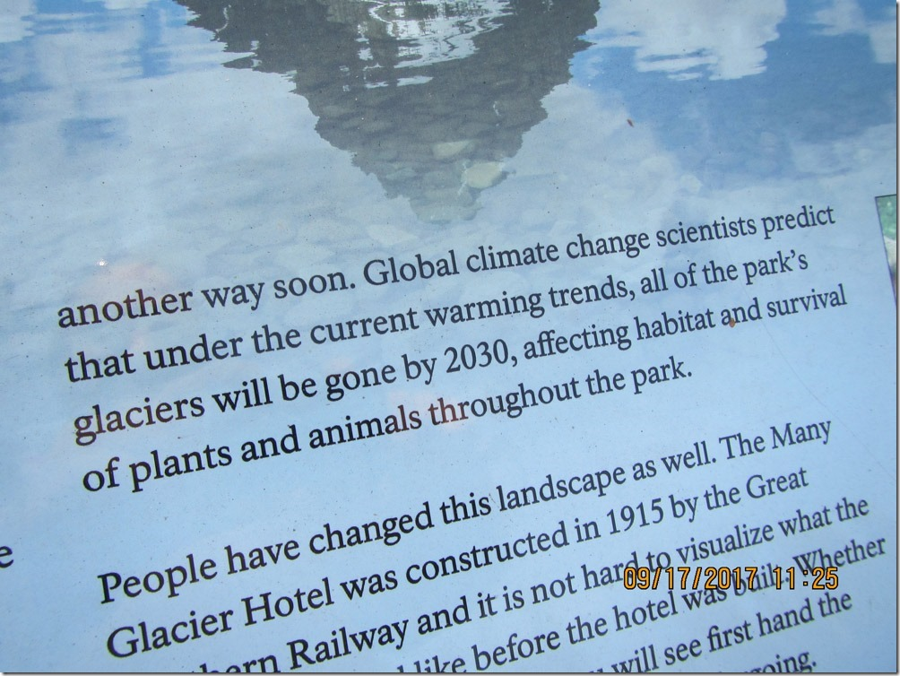 Image result for goodbye glaciers signs taken down