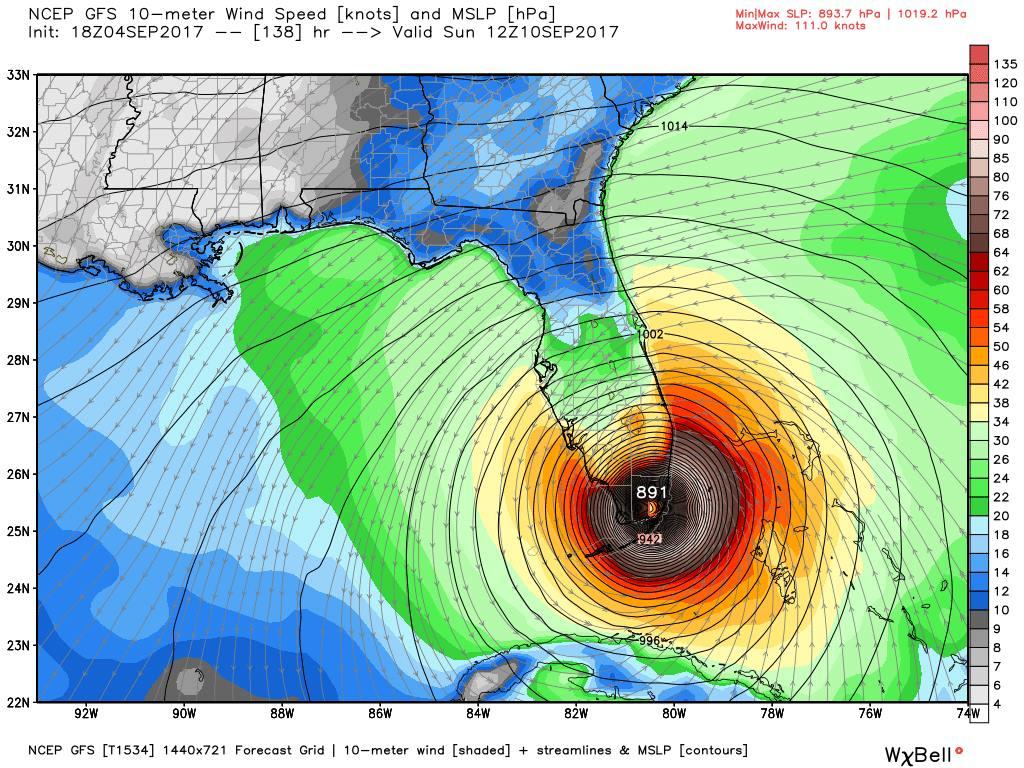 Hurricane Irma Just Entered Beast Mode Satellite Estimates Cat5