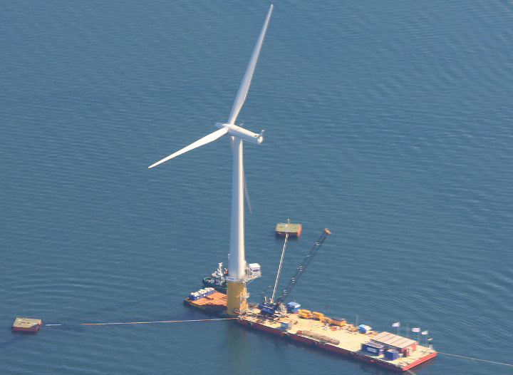 Hywind offshore wind turbine, the world's first floating offshore wind turbine
