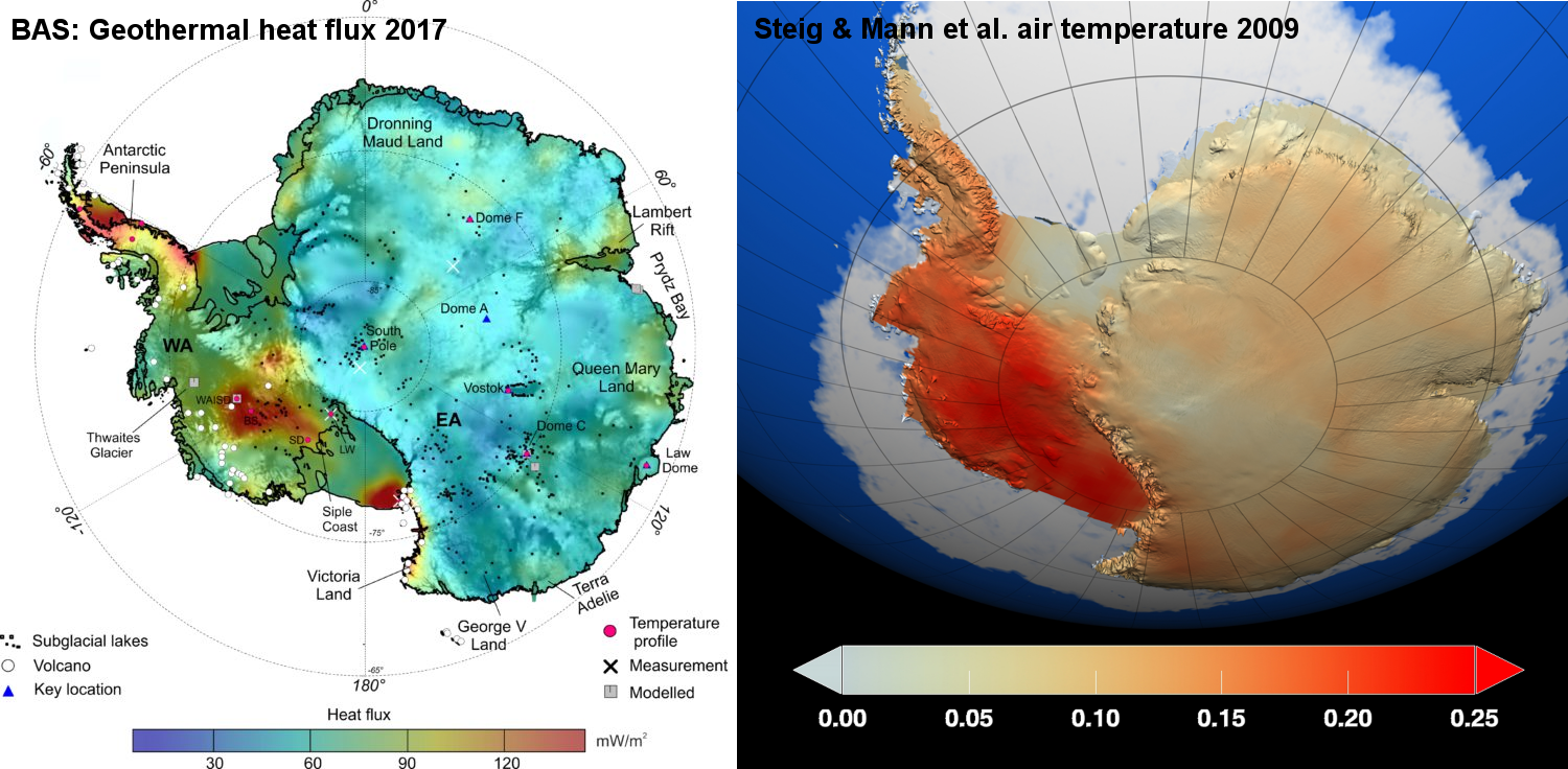 New map of Antarctic geothermal heat suggests Steig & Mann 2009 ...