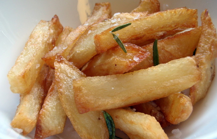 Duck fat French Fries with Rosemary