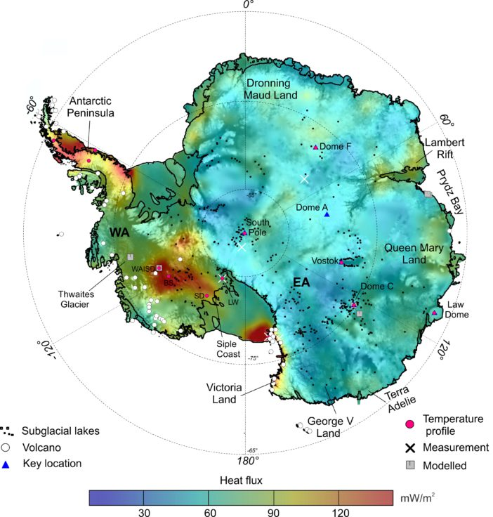 New Map Of Antarctic Geothermal Heat Suggests Steig Mann - Map after global warming